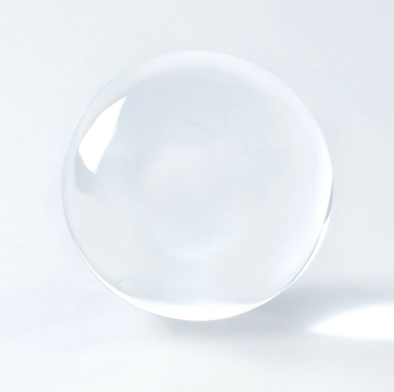 125mm Large Clear Crystal Ball Sphere Scrying Seeing Gazing Divination Healing