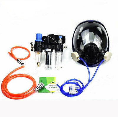 3 In 1 Safety Supplied Air Fed Respirator System With 6800 Full Face Gas Mask