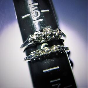 !8 Kt diamond engagement ring and wedding band