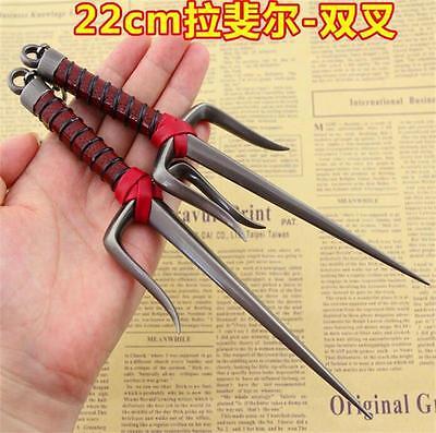 New Teenage Mutant Ninja Turtles 2 Raphael Weapons Double fork Sai Metal Model
