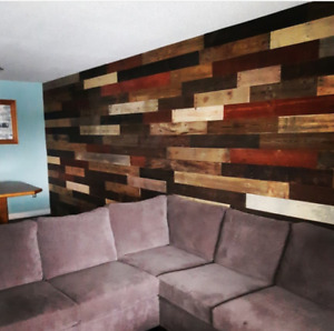 CUSTOM RECLAIMED WOOD WALLS