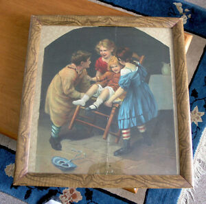 Children Playing Picture (Lithograph by James Lee)