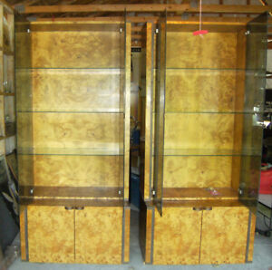 Unique set of 2 Shelving units, coffee table and side board
