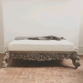 Stunning 19th century Anglo indian carved hardwood bench