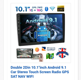 """Android 10"""" Stereo complete with accessories to suit a VW T5 transport"""