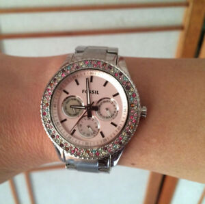 FOSSIL stainless steel woman's hand watch