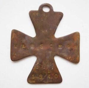 German WW2 Iron Cross w. Inscription POLAND WARSCHAU, 1940