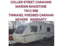 2008 abbey vogue 620 twinaxel fixedbed caravan +AWNING+motor movers