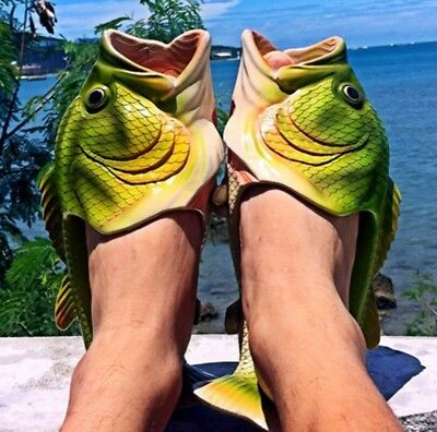 Creative Funny Slippers Fish Shape Beach Women Men Summer Flip Flop Unisex Gift - Funny Slippers For Men