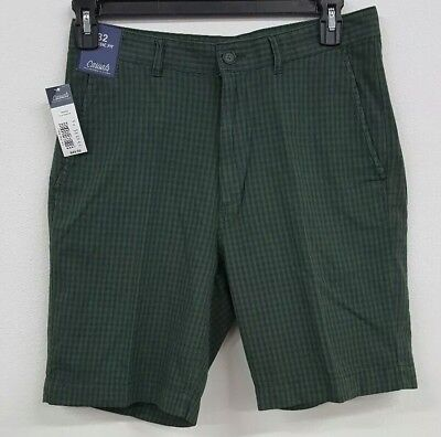 Roundtree & Yorke Casuals Green Navy Gingham Men's Shorts NWT $49.50 Choose (Green Gingham Shorts)