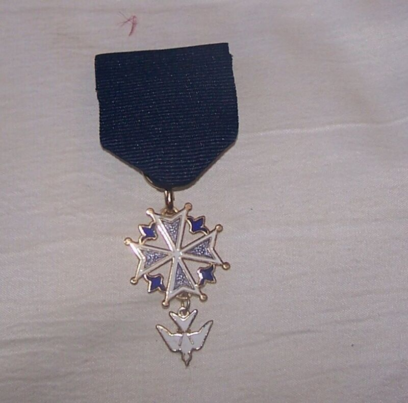 Huguenot Protestant Church Symbol Dove Lis Medal Badge Award Order Royal Society