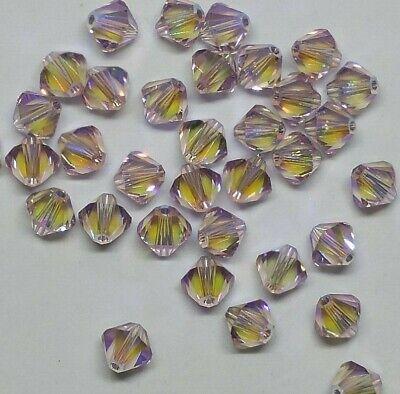 Swarovski Crystal Limited Edition Light Amethyst Shimmer 2X Bicones; 4mm/ 6mm ()