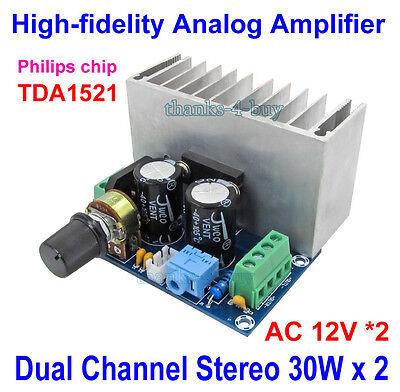30w Audio Power Amplifier (Dual 12V TDA1521 30W*2 HIFI Pure Class A Stereo Audio Power Amplifier Amp Board )