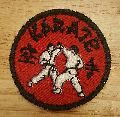 Vintage KARATE Embroidered Sew On Patch
