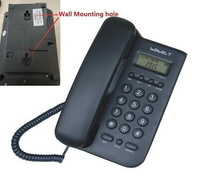 Wall Mount Lcd Telephone Corded Office Landline Caller Phone Home Desk Display