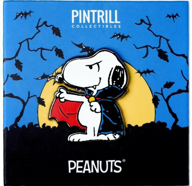 PINTRILL x PEANUTS - Snoopy Dracula Vampire Pin *EXCLUSIVE* Halloween Collection