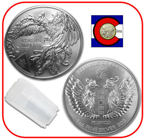 2020 South Korea - Korean Phoenix 1 oz Silver Coin - Roll/Tube of 25 Coins