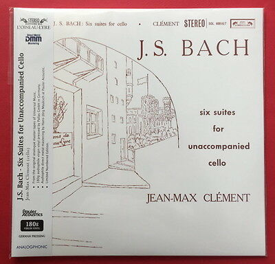 Jean-Max Clement-J.S. Bach . Six Suites for Unaccompanied Cello 2 LP SET (Six Unaccompanied Cello)