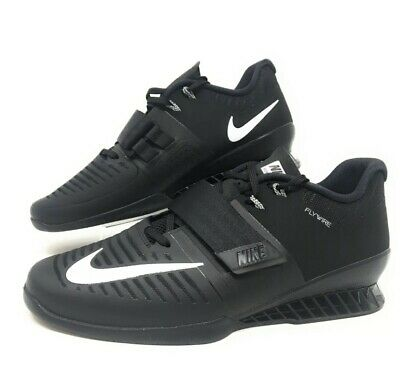 Nike Romaleos 3 Weightlifting Shoe Black/White Olympic Lifter SZ 15 -