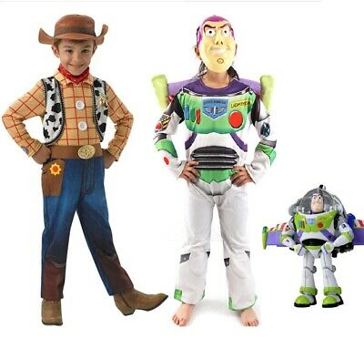 Kids Toy Story Buzz Lightyear Woody Deluxe Children Fancy Dress Costume cosplay](Buzz Lightyear Deluxe Costume)