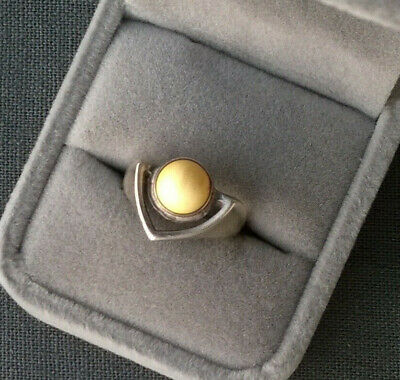 AMBER RING O SOLID 925 EGG YOLK SILVER