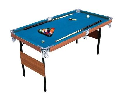"""2-in-1 Folding Snooker & Pool Table 4ft 6"""" New"""