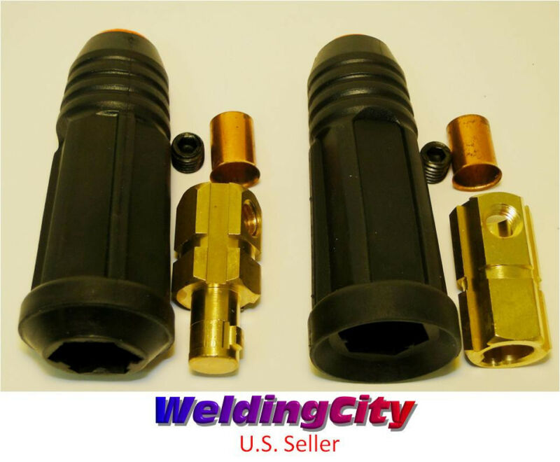 Welding Cable Twist-lock Connector Set Dinse #2-1/0 35-50mm | US Seller Fast