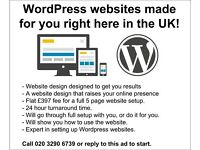 WordPress Websites Made for You Right Here in the UK!
