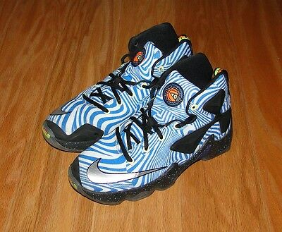 Nike Lebron XIII 13 GS Size 3.5Y 808709-101 Blue White Boy's Youth