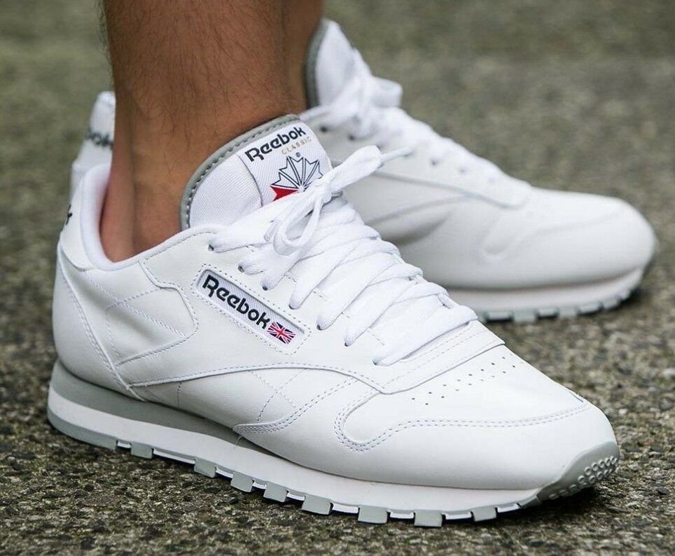 100% ORIGINAL REEBOK CLASSIC LEATHER 2214 HERREN SNEAKERS TURNSCHUHE LEDER WEIß