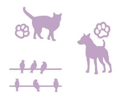 DOVECRAFT Stanzschablone MINI Schablonen TIERE Hund Katze Vogel Tier Tatze Pfote