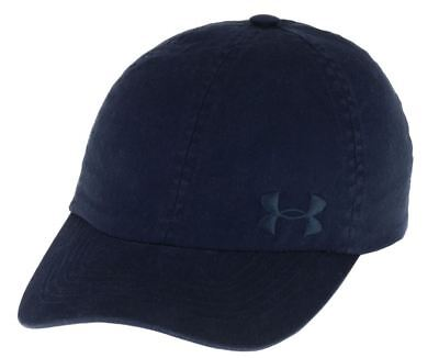 Under Armour Women's Washed Cap Navy Blue Adjustable Hat UA Free Fit 1285293 New