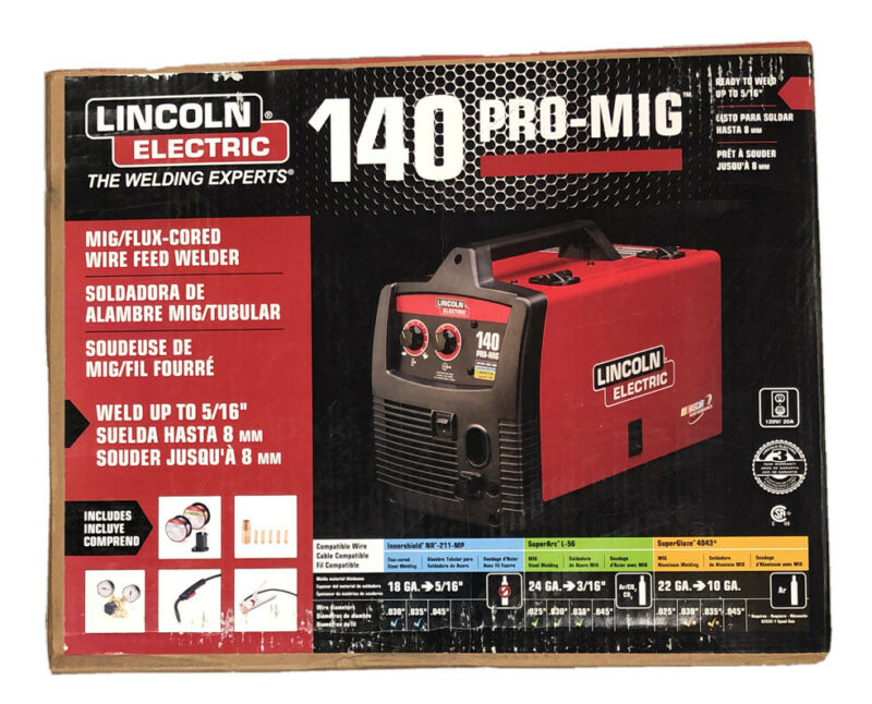 LINCOLN ELECTRIC 140 PRO-MIG MIG/FLUX CORDED WIRE FEED WELDER, K2480-1