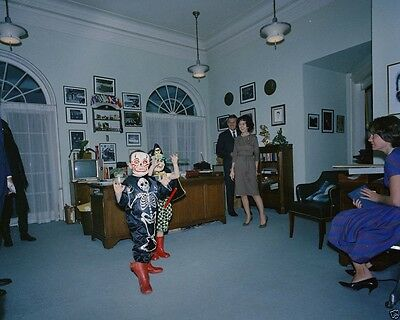 Caroline Kennedy and cousin wear Halloween costumes 1962 New 8x10 Photo