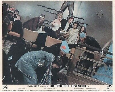 THE POSEIDON ADVENTURE lobby card print # 3 GENE HACKMAN, SHELLY WINTERS