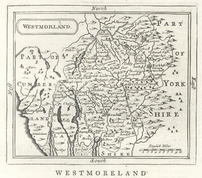 c1780 Original Antique Map WESTMORELAND by John Seller / Francis Grose (GR)