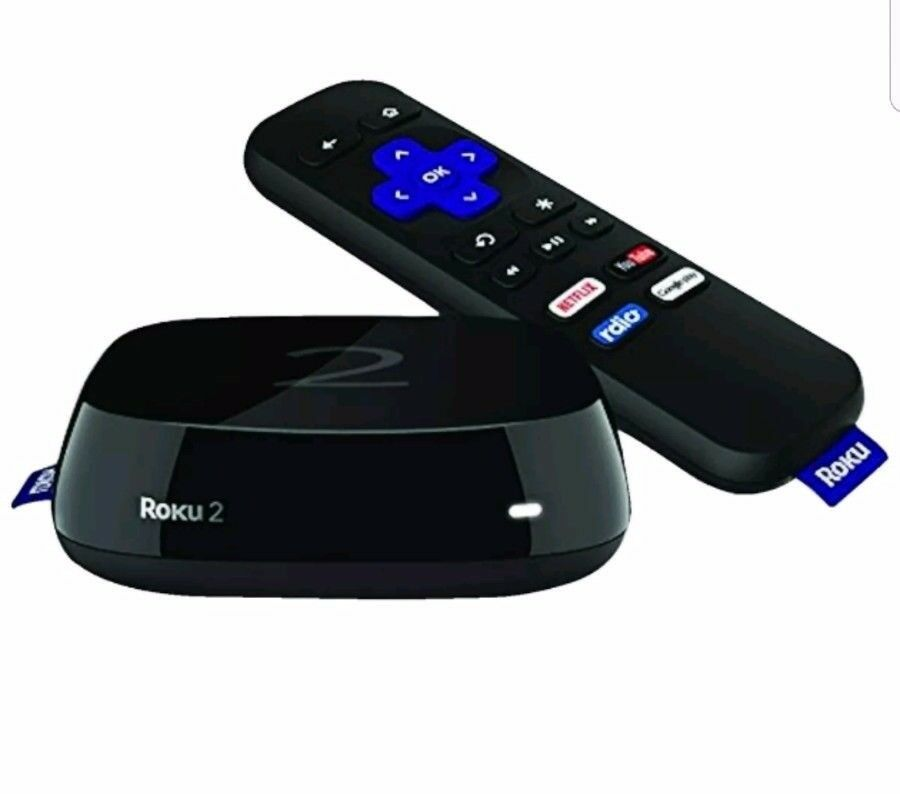 Roku 2 Media HDMI Smart Streaming Player Box with Built in Wi-Fi in Black