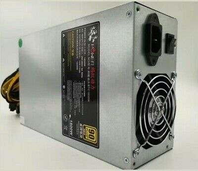 1800w Power Supply PSU for Miners Antminer S9, L3+, L3++, E3, Z9, BTC, ETH, ETC,