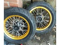 Road legal pitbike wheels and tyres