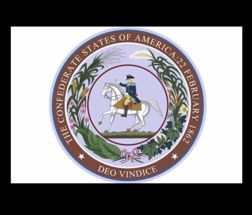 Great Seal of Confederate States of America PHOTO Civil War Confederacy Rebel