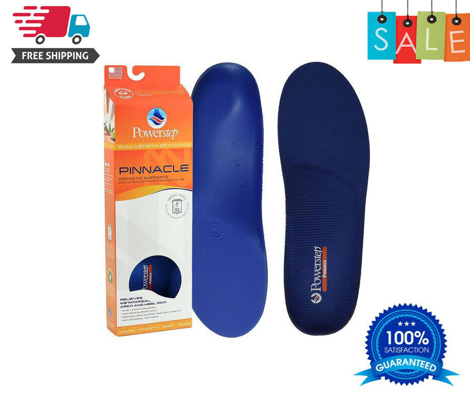 New Powerstep Pinnacle Orthotic Insoles Inserts Orthotics Si