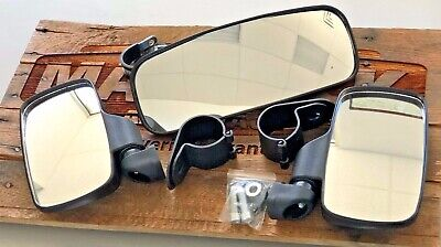 3 pc Set-Rear and Side View Mirrors Heavy Duty Sport for Honda Talon UTV
