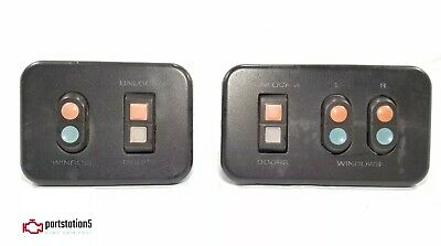 87-91 Ford F150 F250 F350 Bronco Driver Passenger Power Window Switch Pair OEM