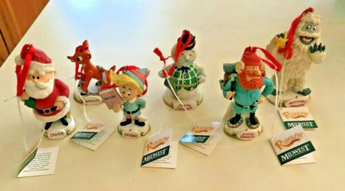 Lot of Rudolph The Movie Christmas Ornaments - By Midwest of Cannon Falls - 1999