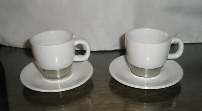 2007 Starbucks Demitasse Espresso Cup and Saucer Stainless Bottom
