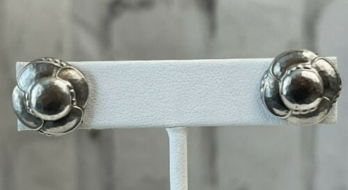 Antique Georg Jensen Denmark Post Earrings #37 1945-Present