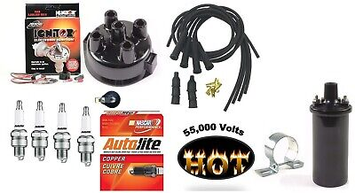 Electronic Ignition Kit Hot Coil John Deere 3010 3020 Tractor Delco Dist-clip