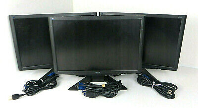 "Lot of 3 - Acer X193W 19"" Widescreen LCD Monitors"
