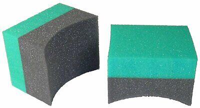 Tire Dressing Applicator Double Wide Curved Foam Sponge (12 Pack) Foam Applicator Sponge