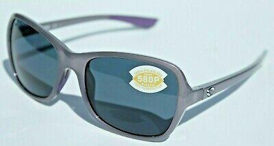 COSTA DEL MAR Kare 580P POLARIZED Sunglasses Womens Shiny Sea Lavender/Gray -